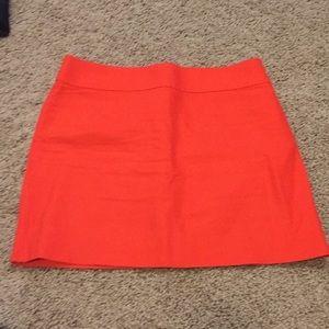 J. Crew orange skirt
